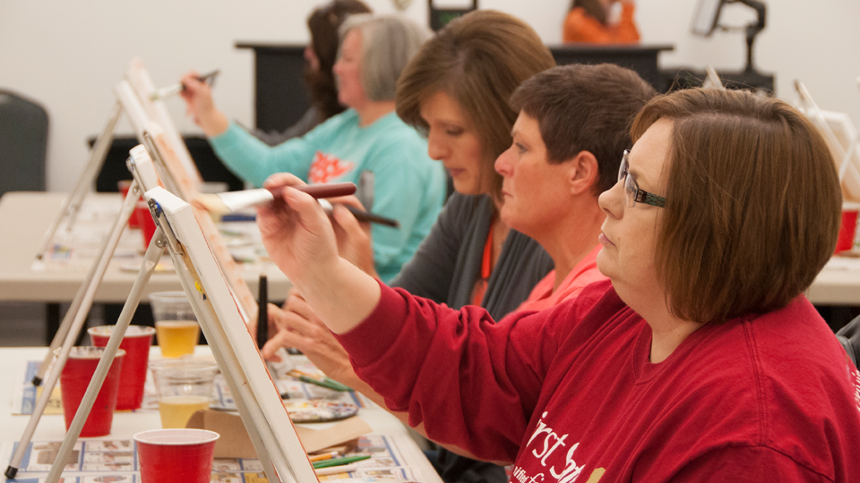 Wine and Paint Class June 18, 2021