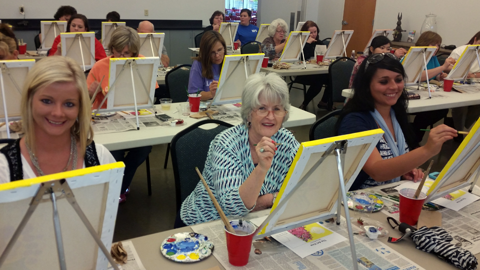Wine and Paint Class Aug. 21, 2020